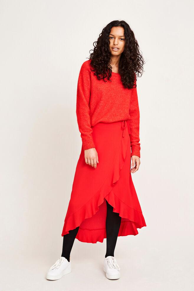 Limon l wrap skirt 6515, HIGH RISK RED