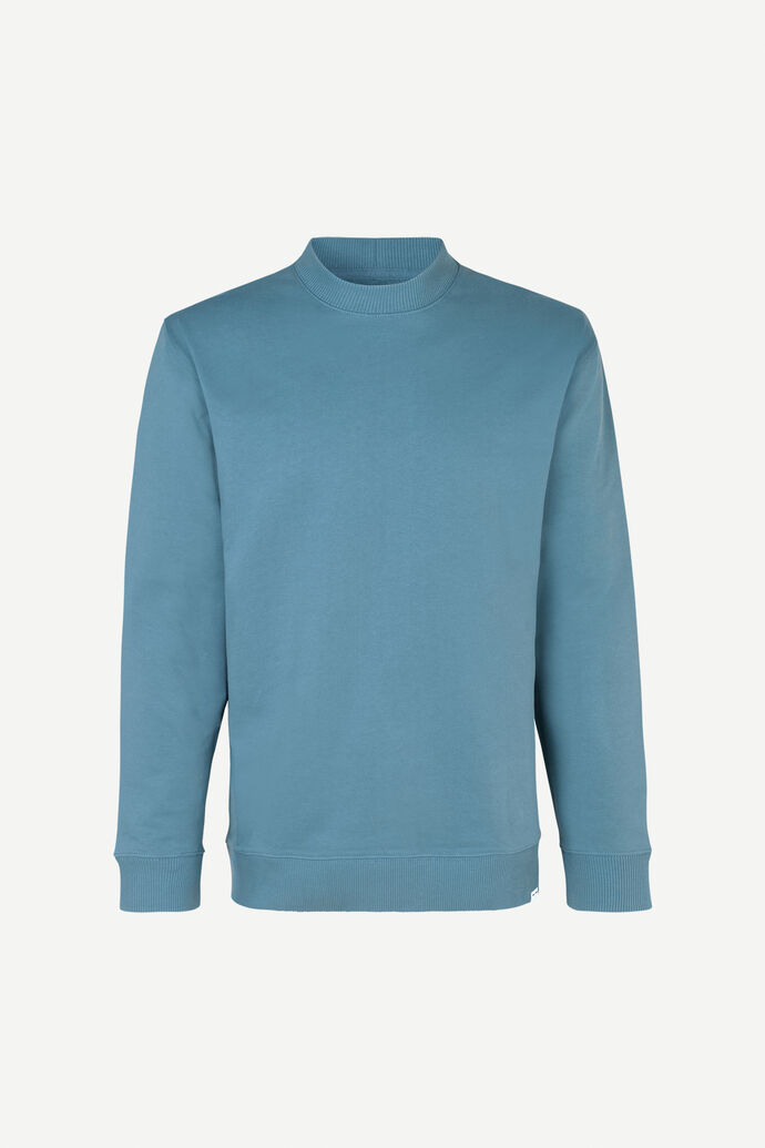 Toscan crew neck 11414, BLUE MIRAGE