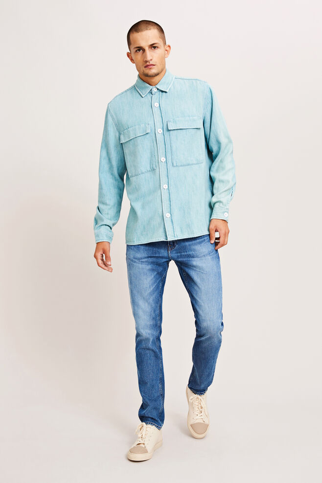 Waltones overshirt 9750, LIGHT BLUE DENIM