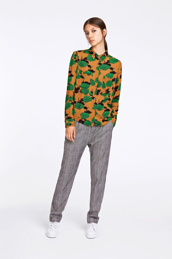 Milly shirt aop 7201, VERT BLUMEN