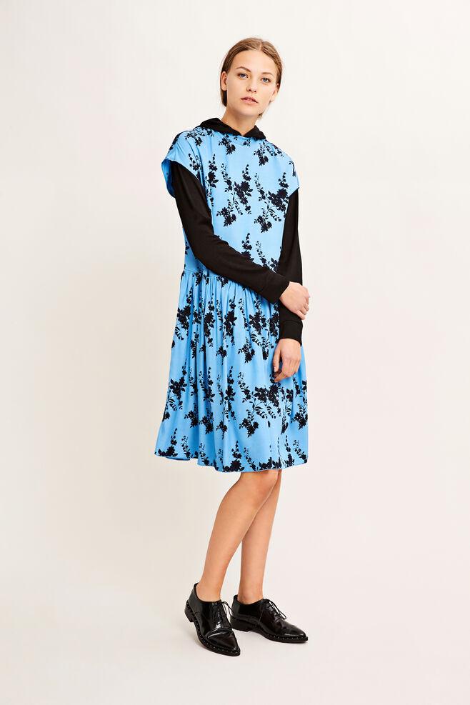 Jardin short dress aop 9710, BLUE BLOOM