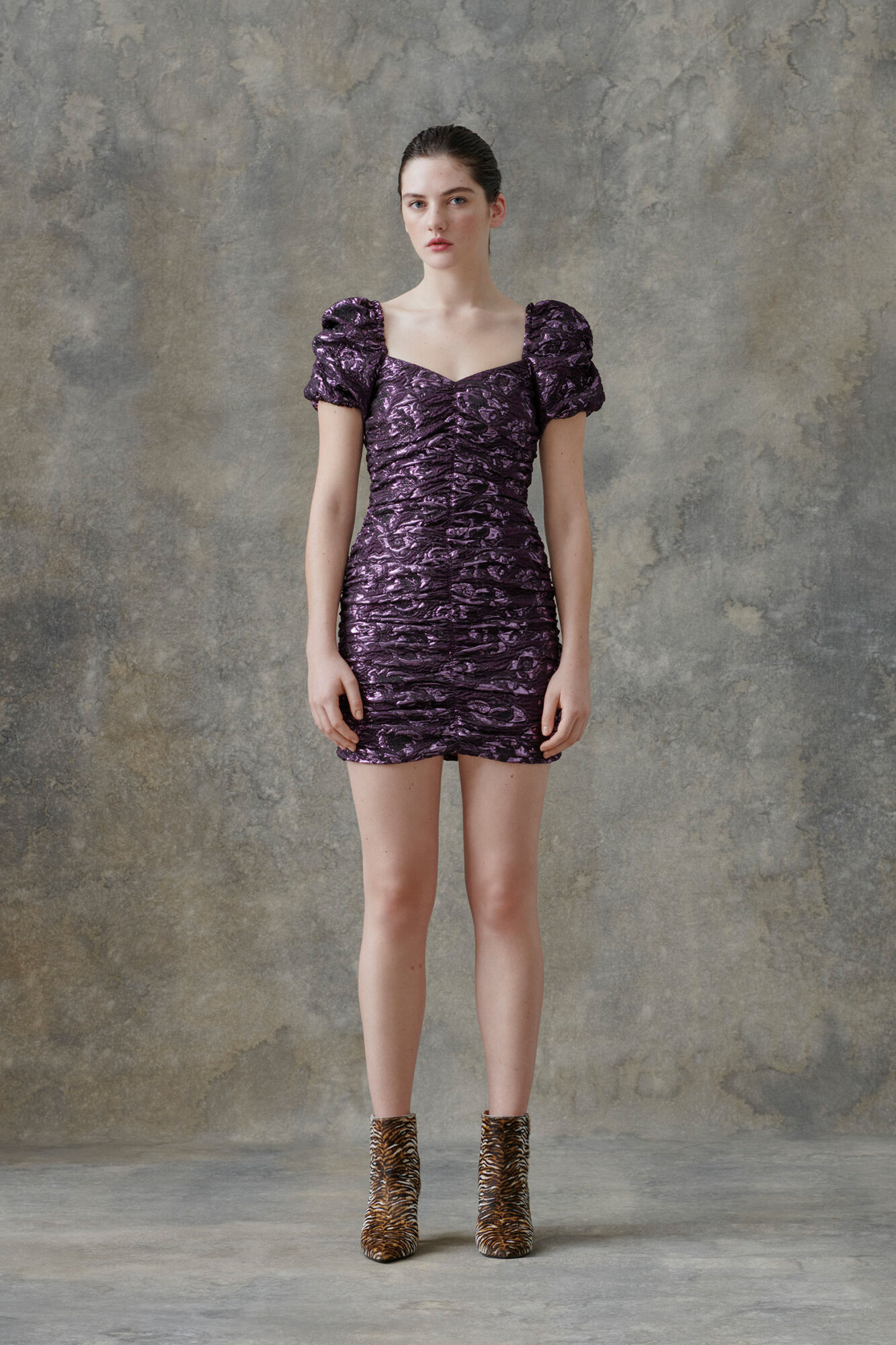 Girasol dress 12905, PURPLE JASPER