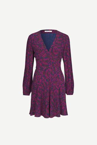 Cindy short dress ls aop 10056