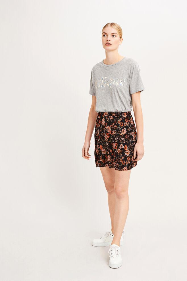 Limber skirt aop 9699, BLACK BLOOM
