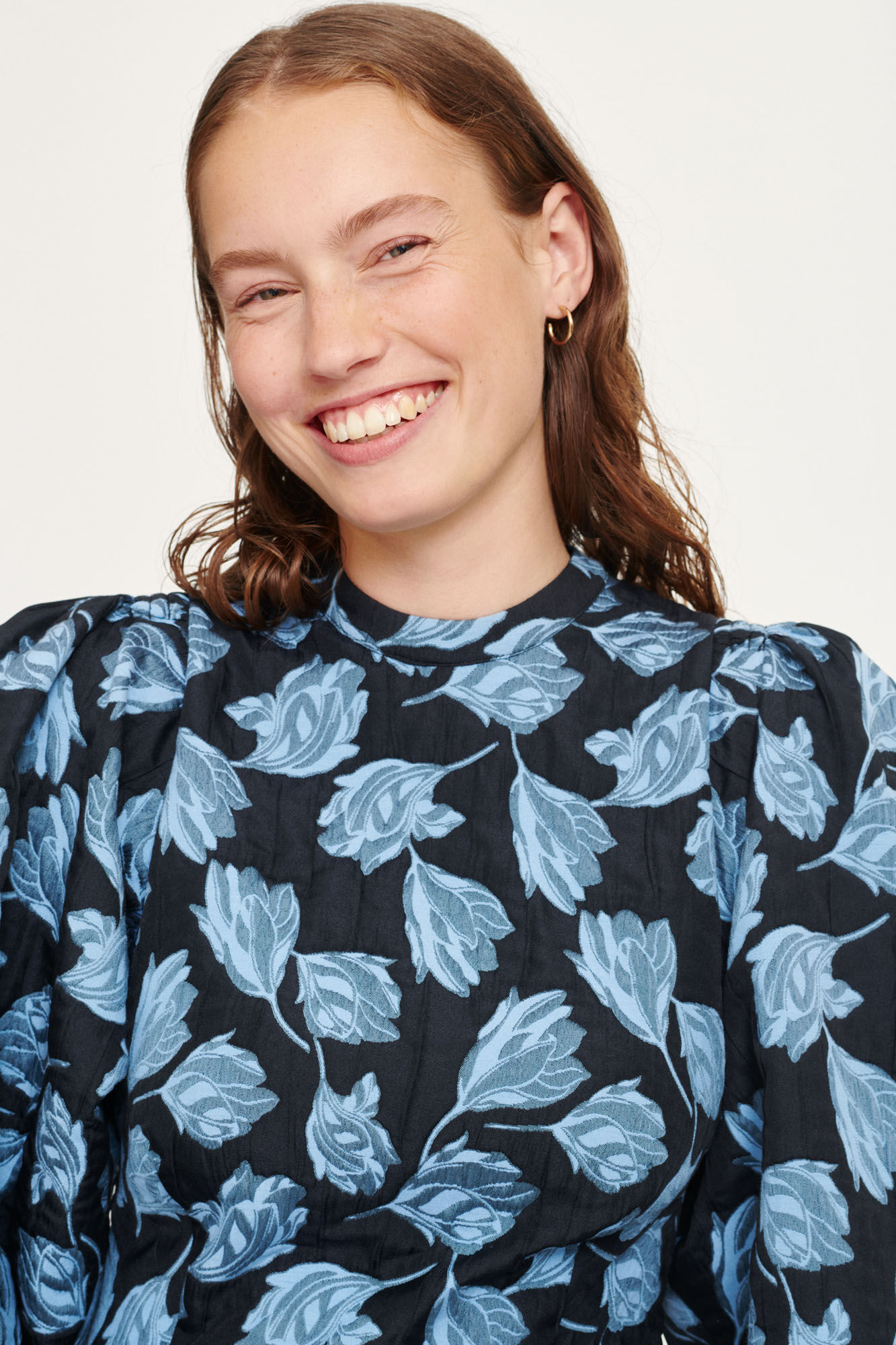 Harriet short dress 13045, BLUE FLOWER