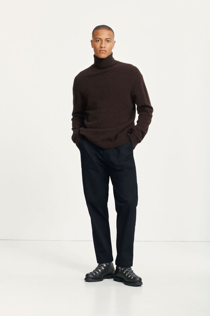 Viktor turtle neck 12758, BLACK COFFEE MEL.