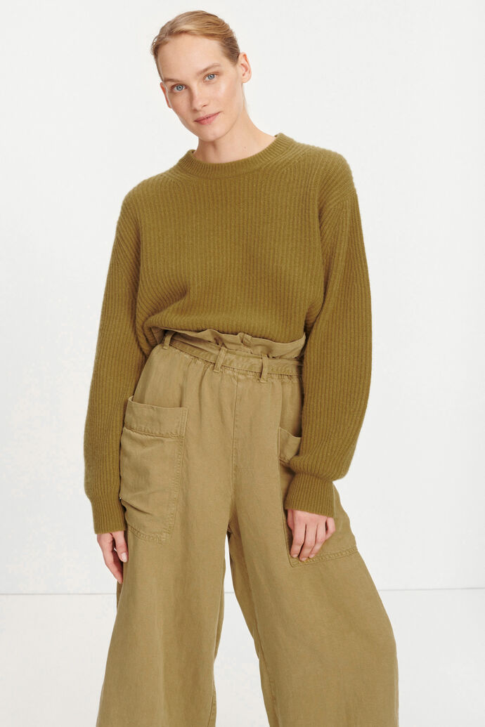 Aia crew neck 11435, GREEN KHAKI