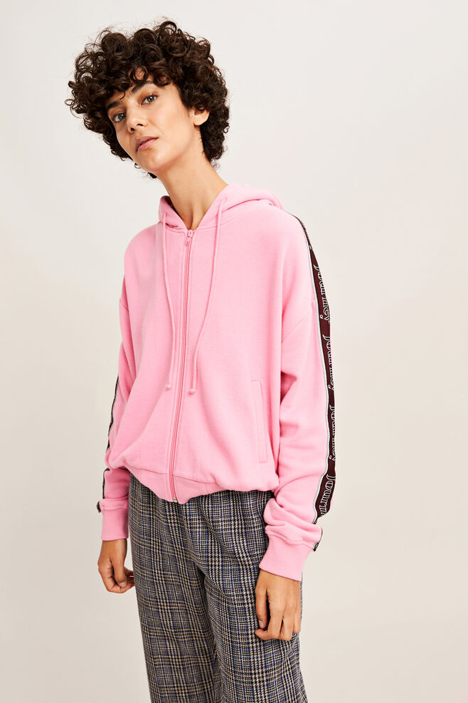 Kelsey zip tape hoodie 9683, ROSE JOURNEY