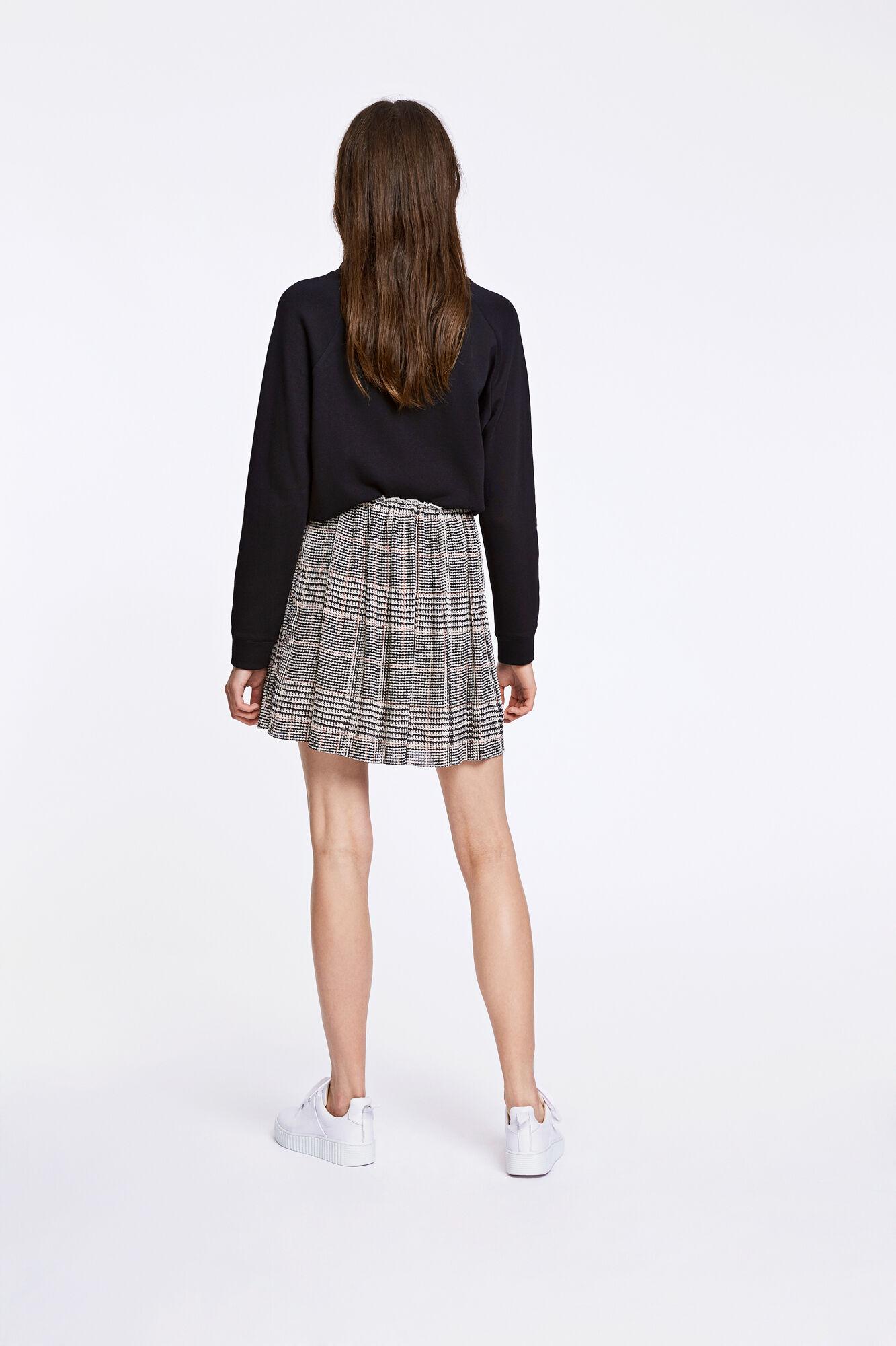 Lei p skirt aop 6621, BLACK RED CH