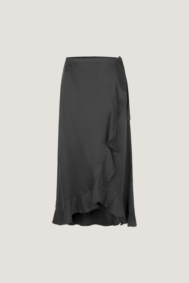 Limon l wrap skirt 9941, BLACK