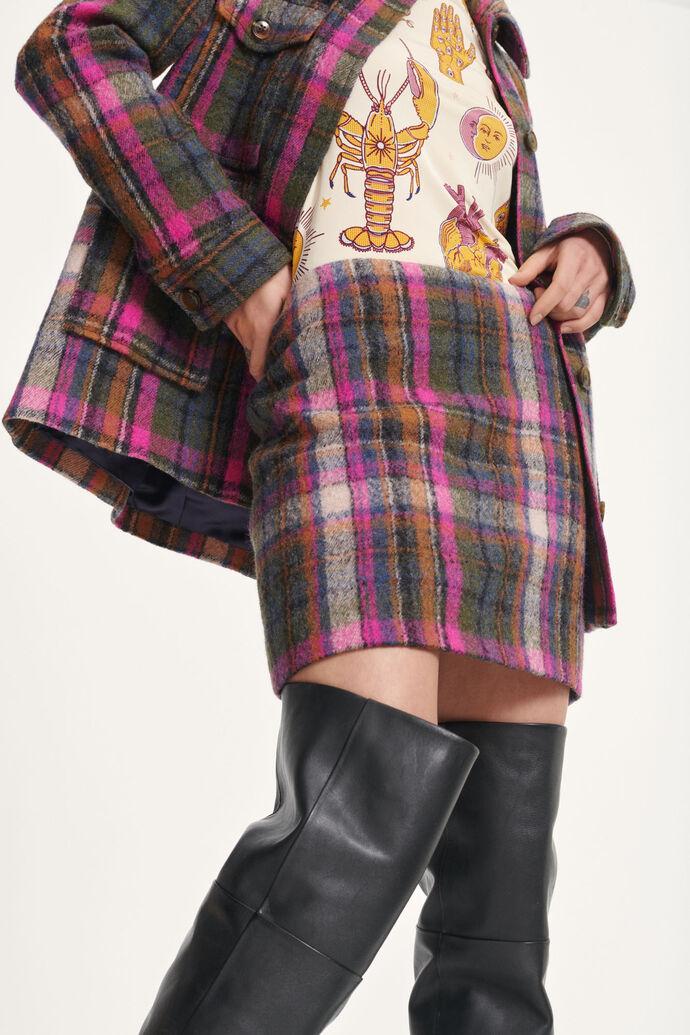 Agathe skirt 12897, MAGENTA CH.