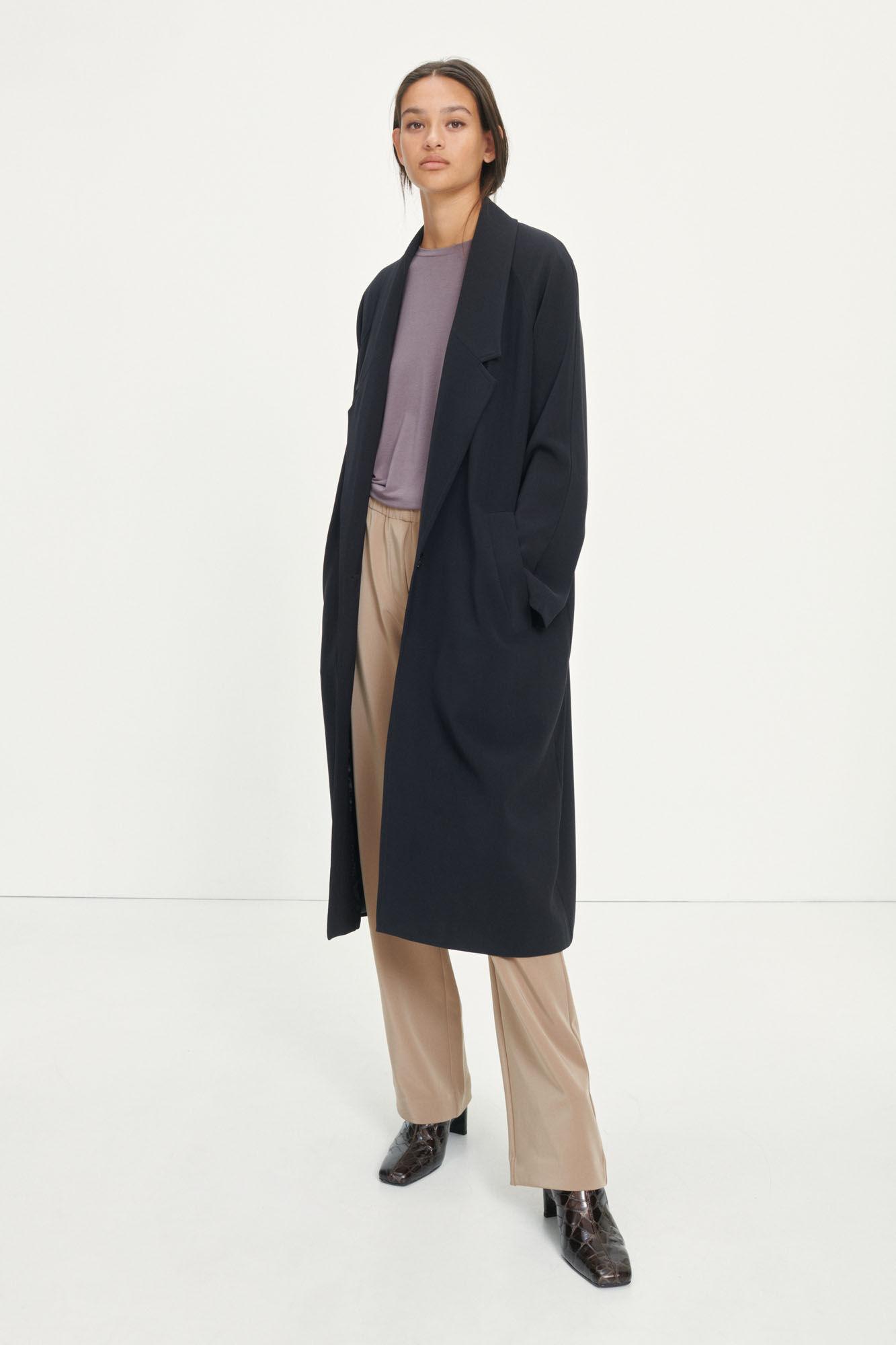 Ayla coat 10654, BLACK
