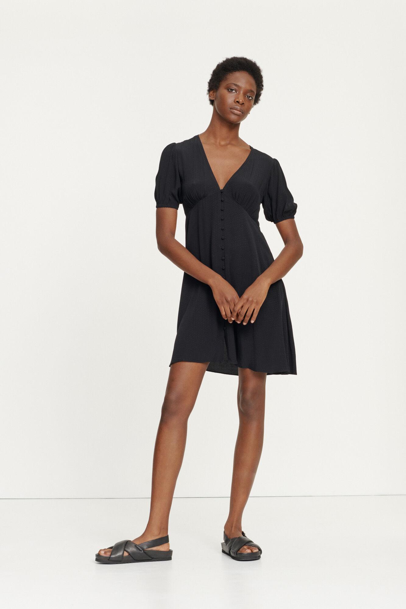 Petunia short dress 10458, BLACK