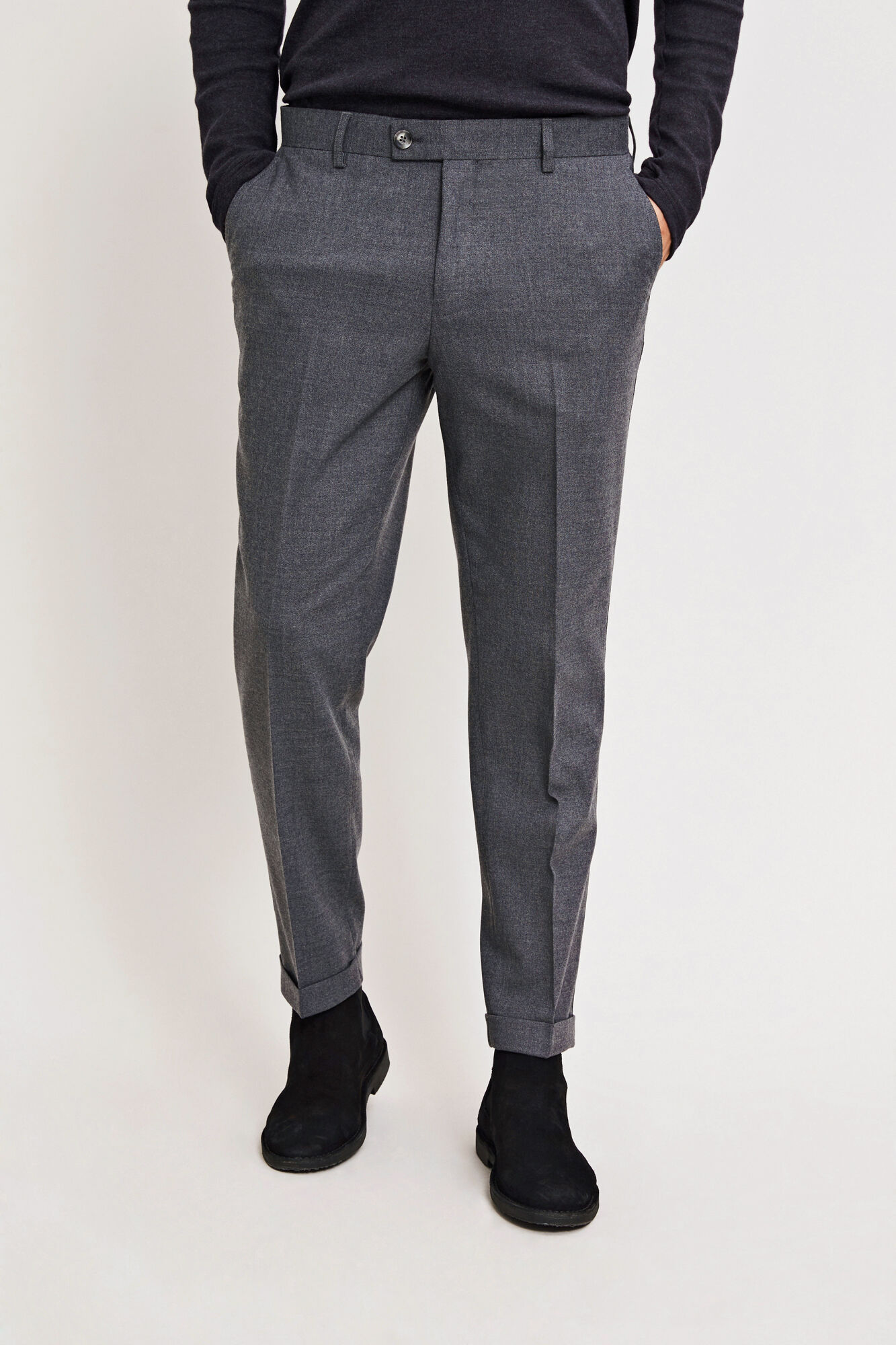 Laurent pants fold up 6568
