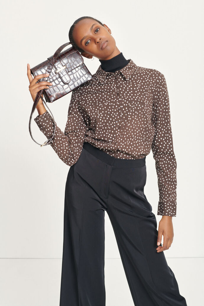 Milly shirt aop 9942, COFFEE DROPS