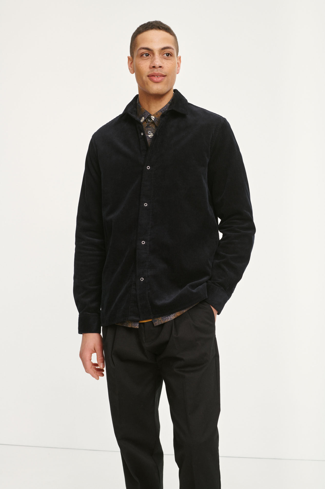 Waltones overshirt 12806, BLACK