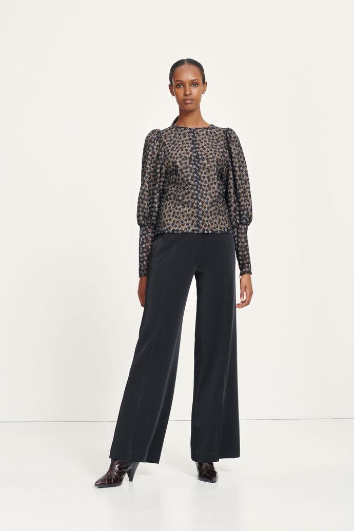Pimo blouse 12945, GLITTER FLOWER