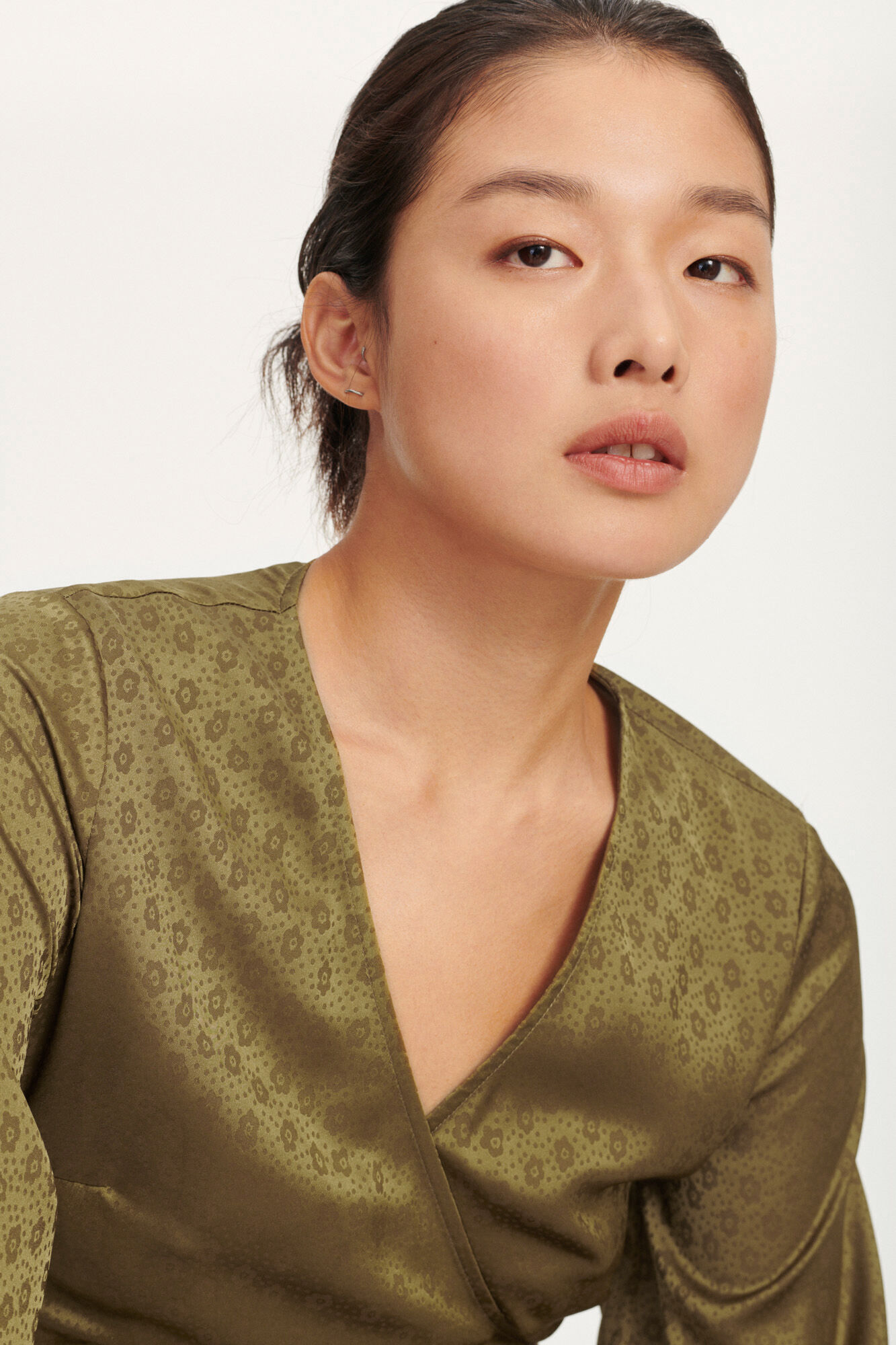 Veneta blouse 11459, GREEN KHAKI