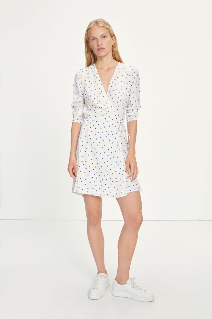 Britt s wrap dress aop 10864, CLEMATIS DOT