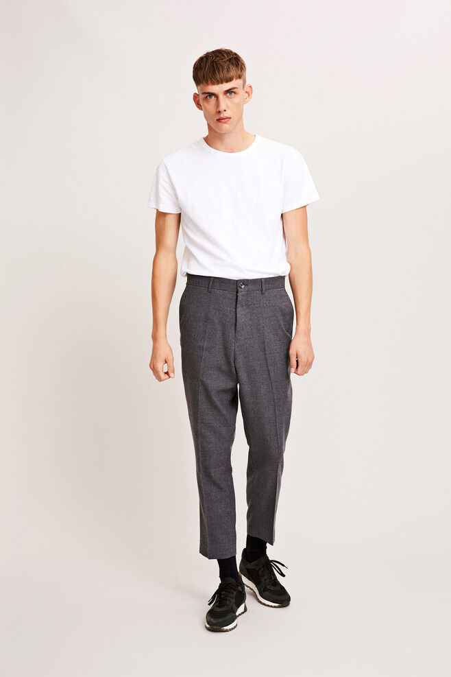 Steve pants 6568, DARK GREY MEL.