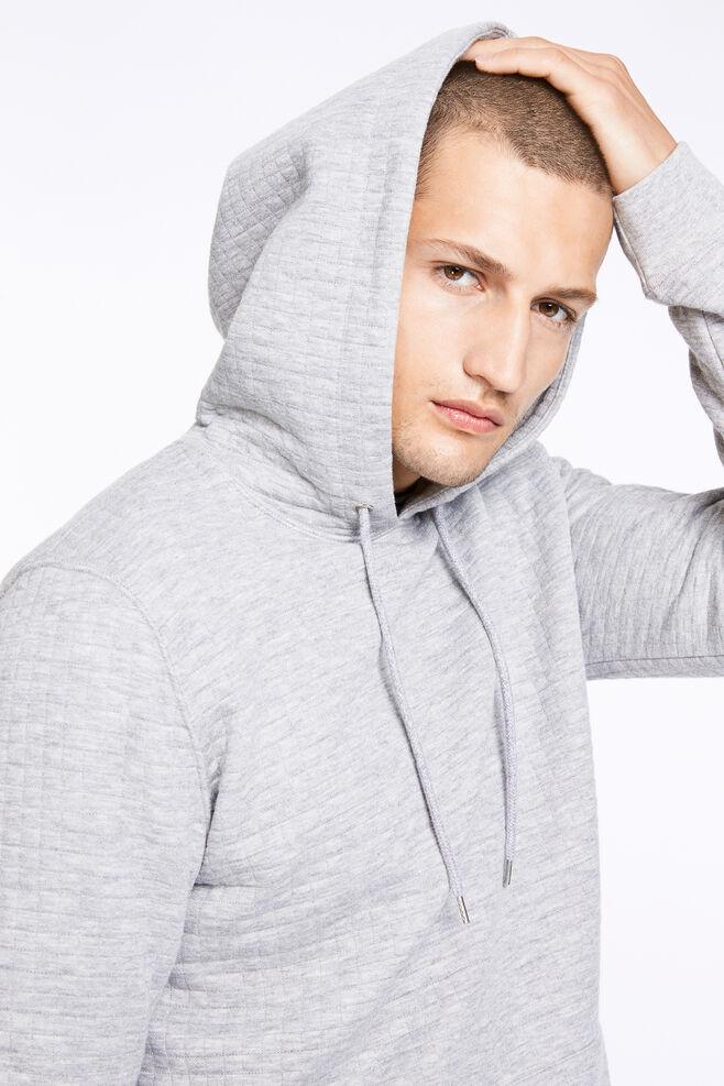Ledger hoodie 9463, GREY MEL.