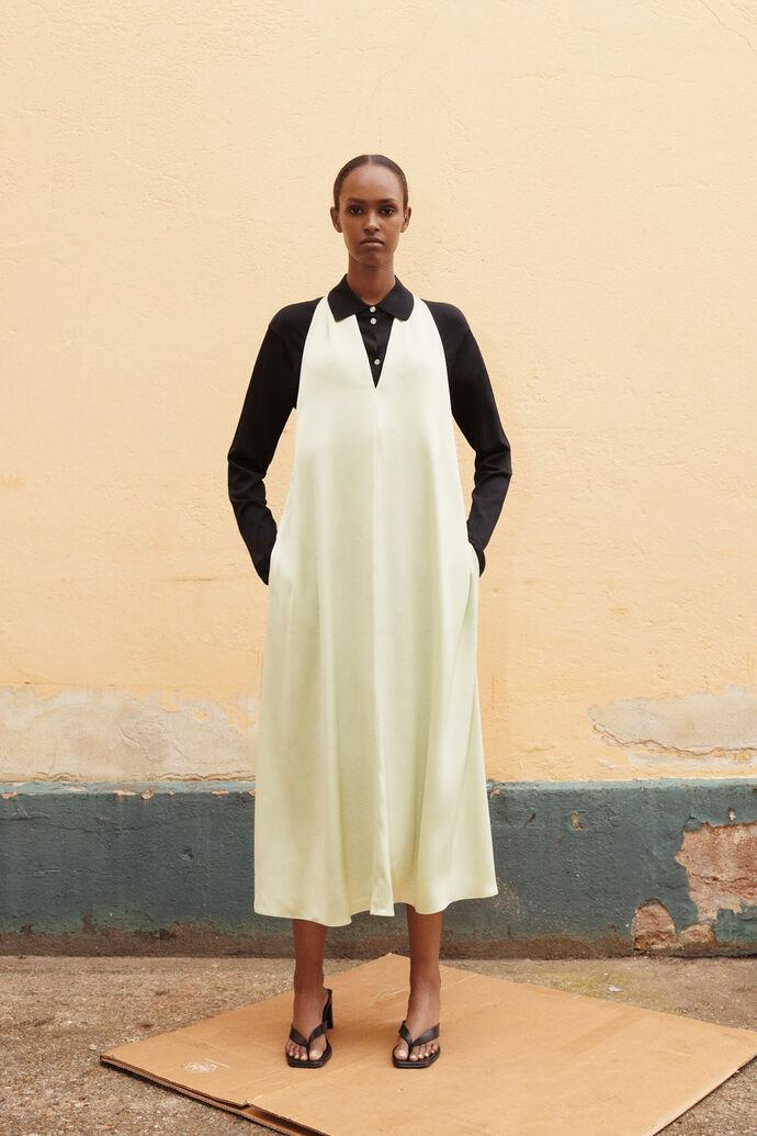 Cille dress 13096, FOG GREEN
