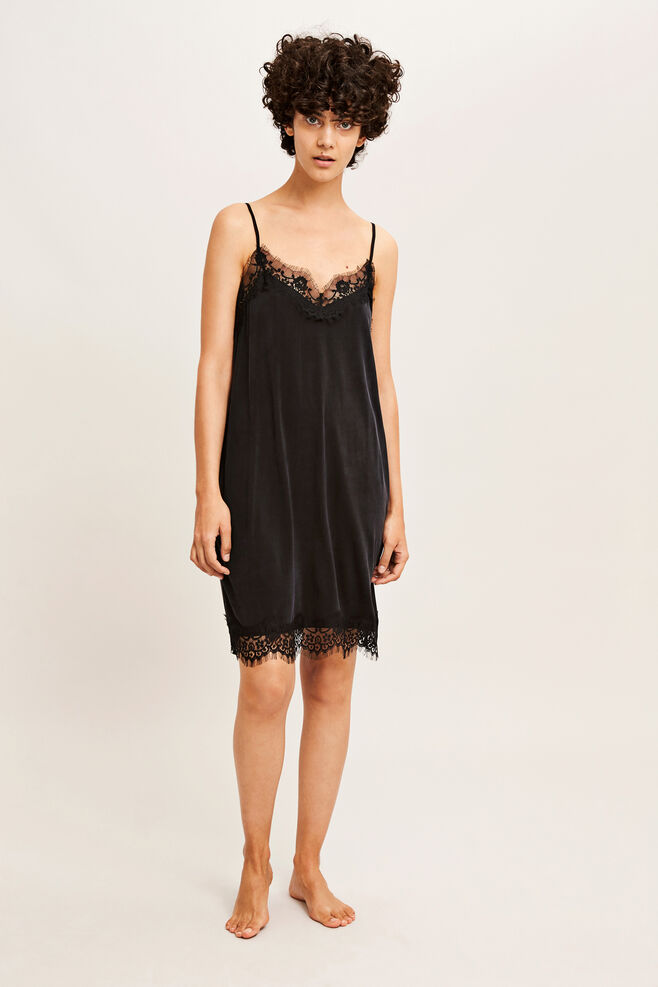 Jennifer slip dress 6202, BLACK