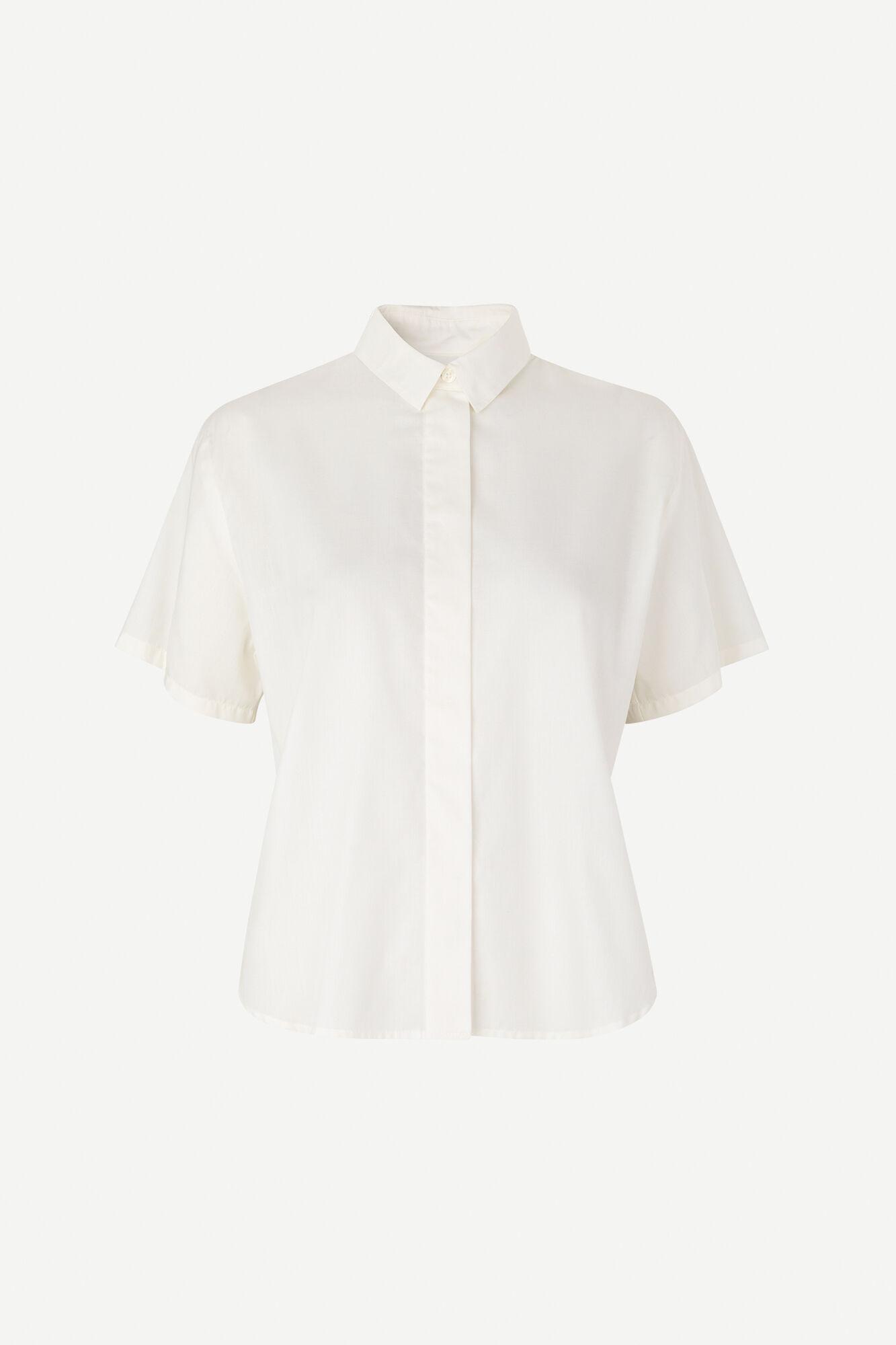 Carina ss shirt 12866, WHITE