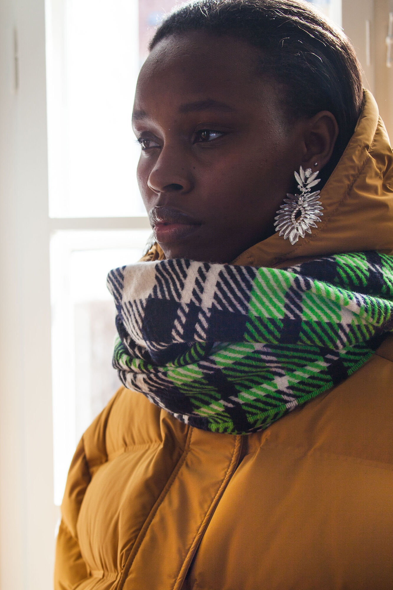 Accola scarf jac 2862, CLASSIC GREEN CH