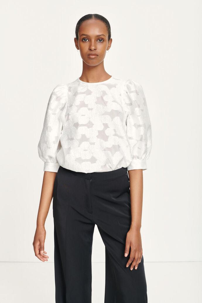 Celestina blouse 12939, CLEAR CREAM