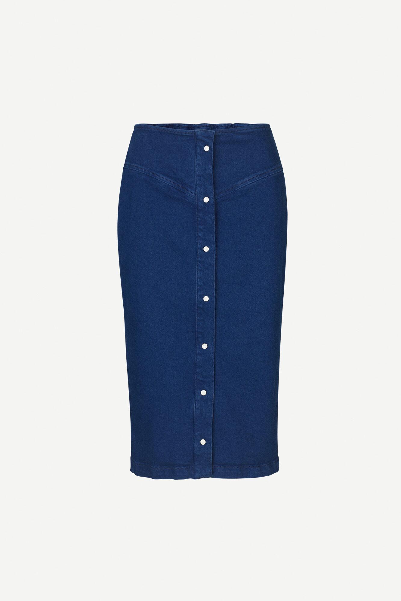 Bertha long skirt 11492, INDIGO BLUE