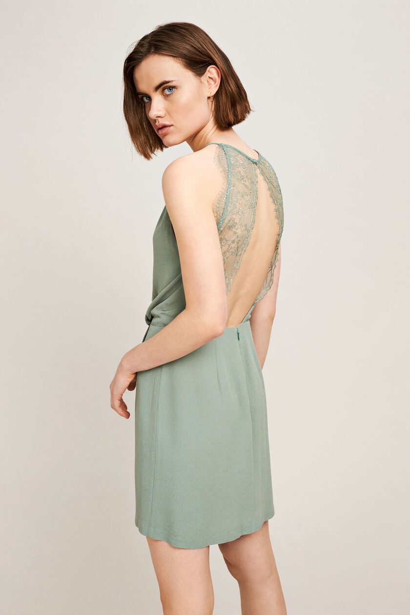 Willow short dress 5687, CHINOIS GREEN