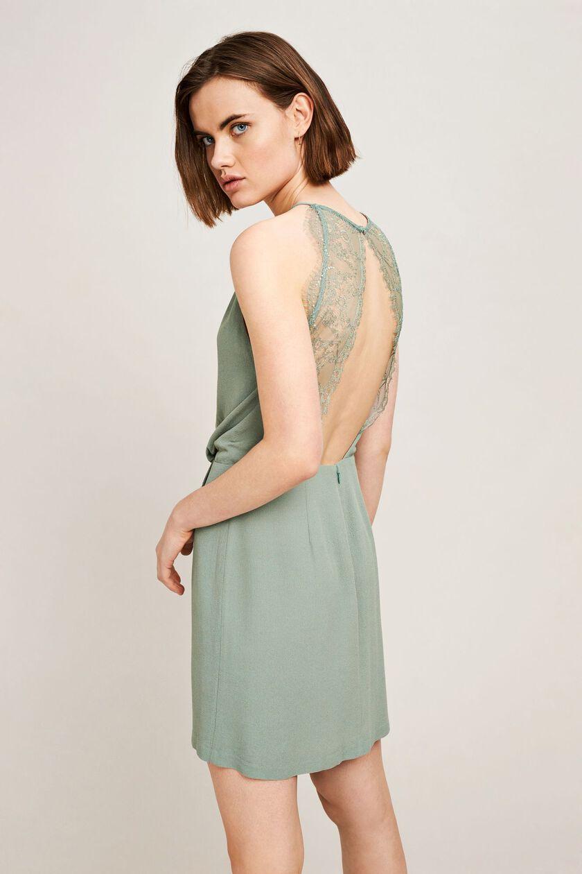 Willow short dress 5687, CHINOIS GREEN