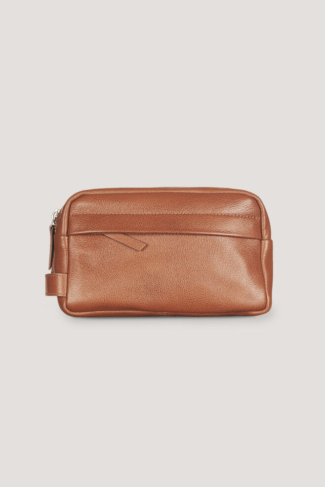 Mule wash bag 3338, COGNAC