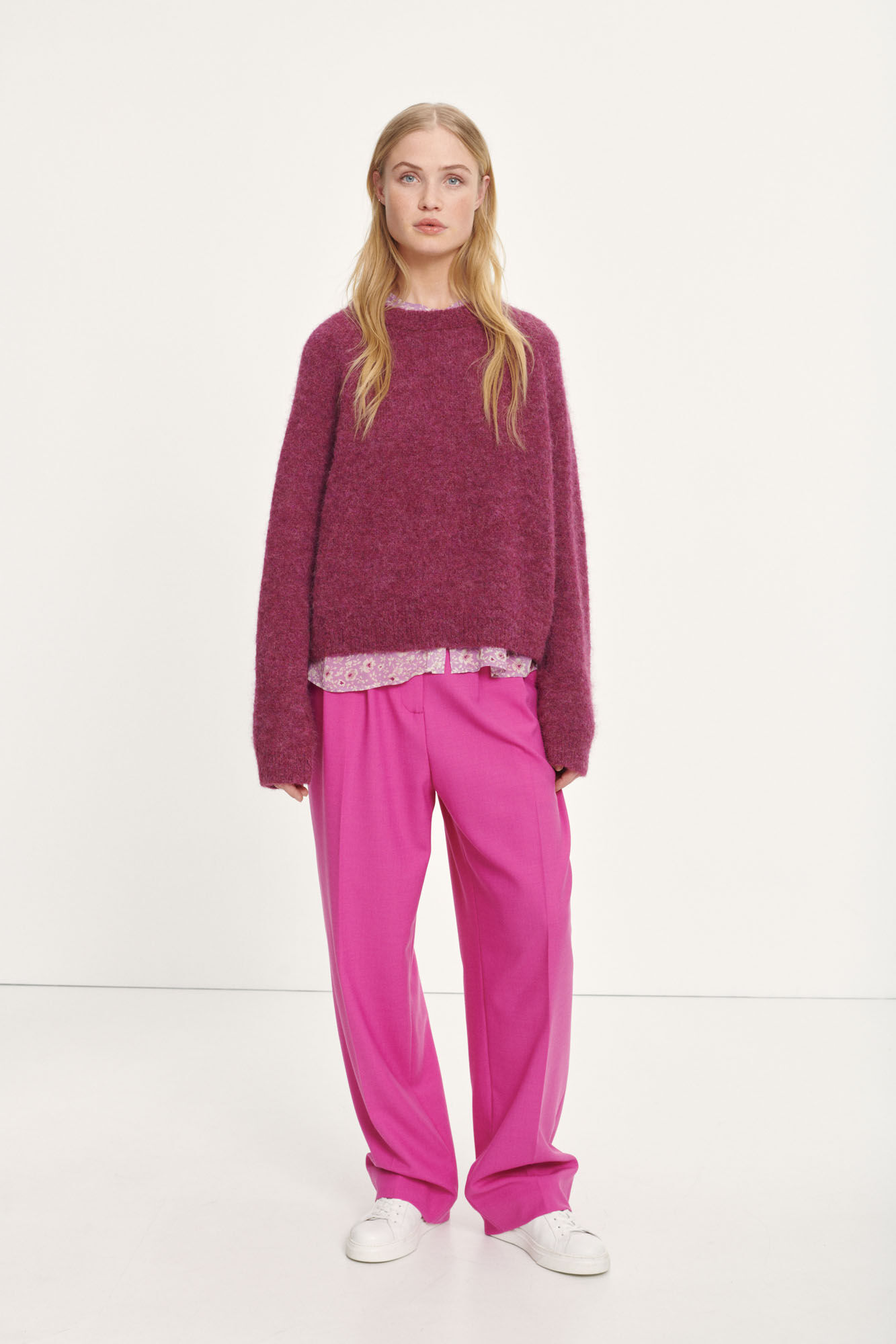 Neta crew neck 12755, PURPLE JASPER