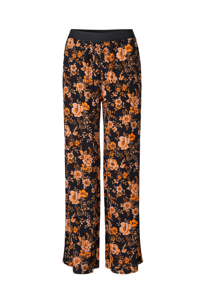 Nessie pants aop 6515, BLACK BLOOM