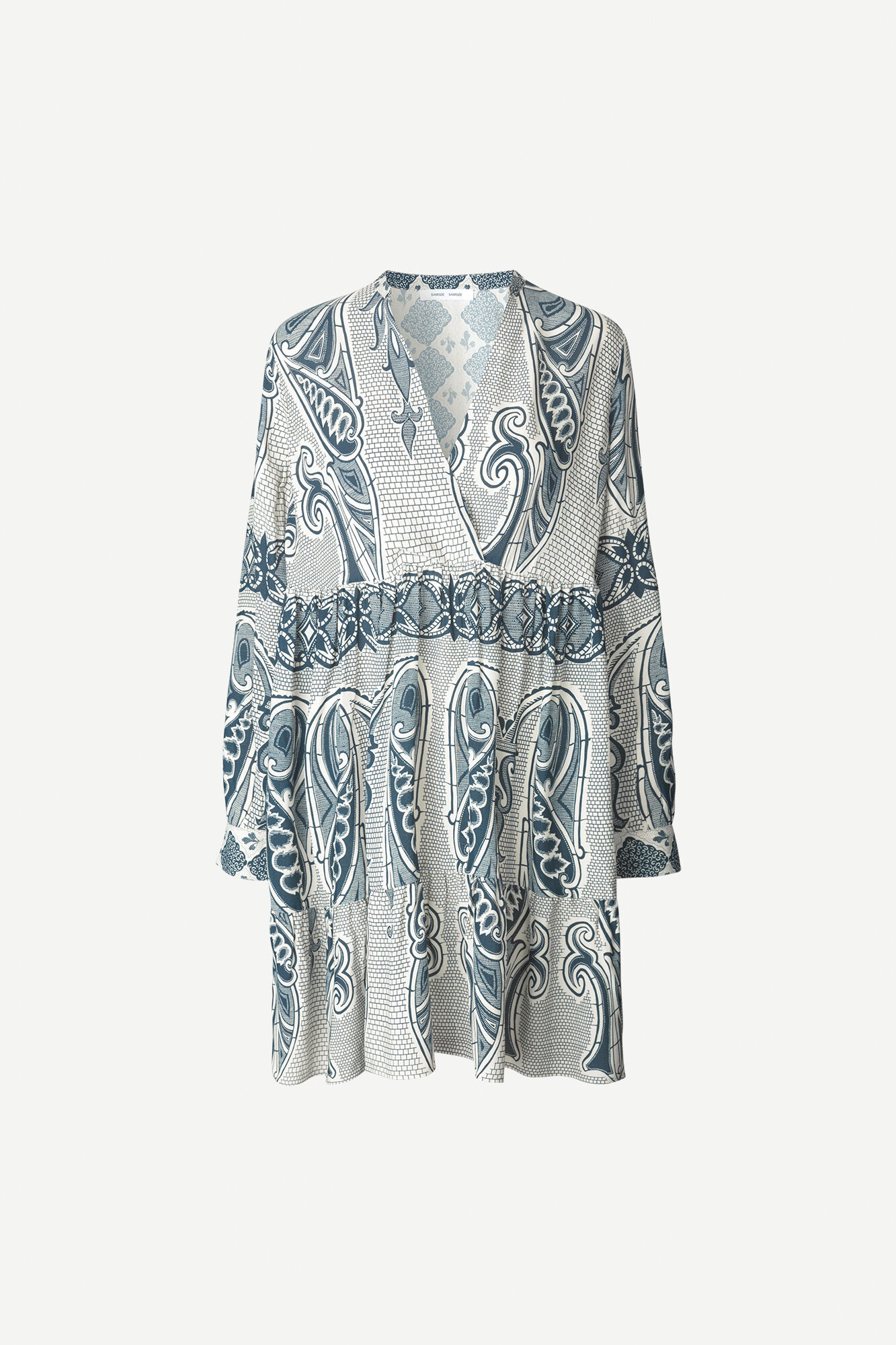Mori short dress aop 10867, PORCELAIN