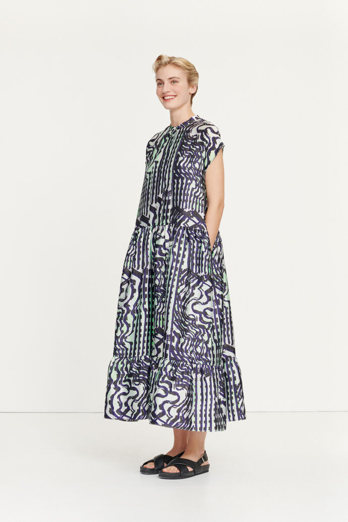 Margo long dress aop 11244, SEISMOGRAPH