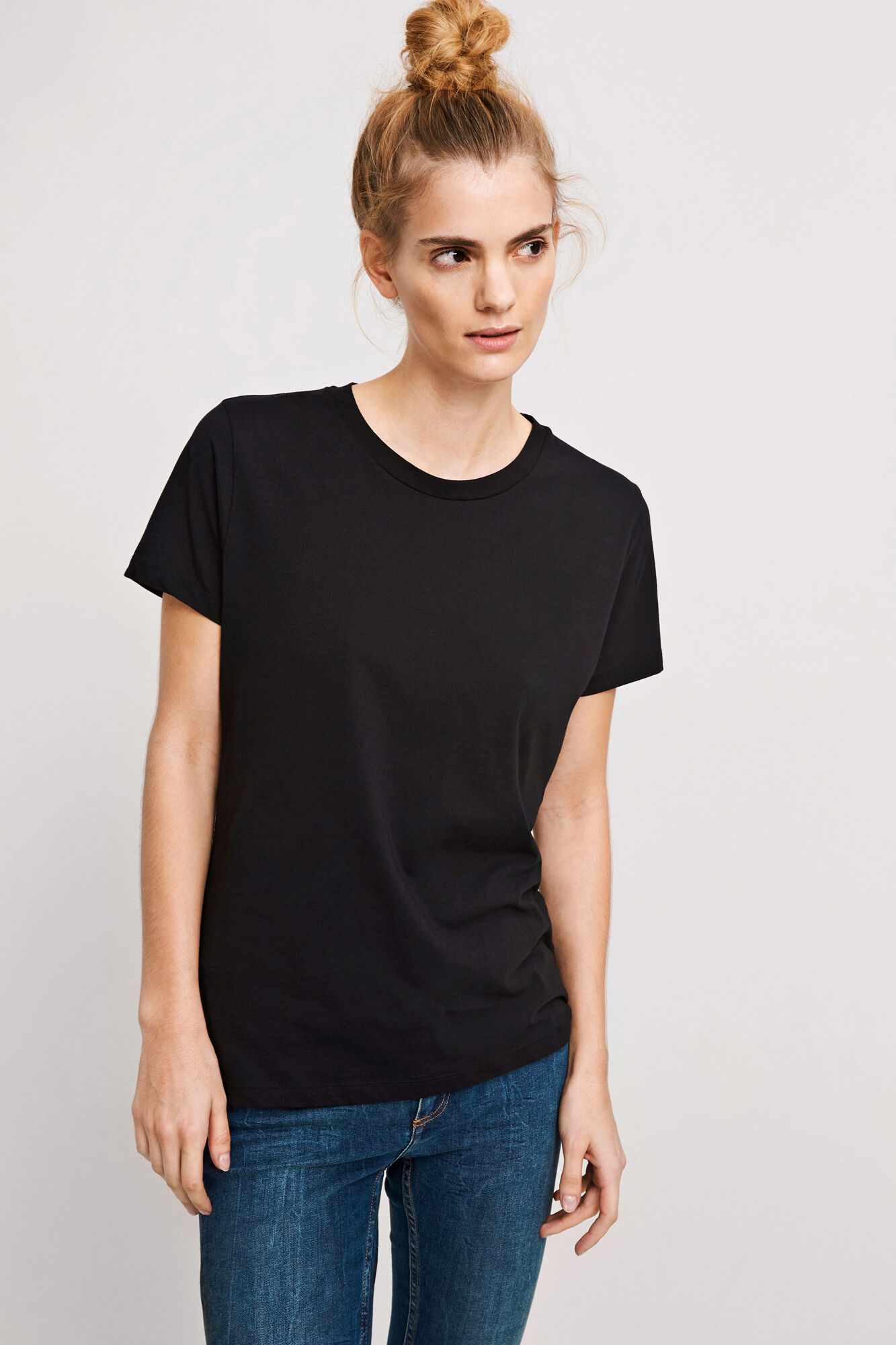 Solly tee solid 205, BLACK