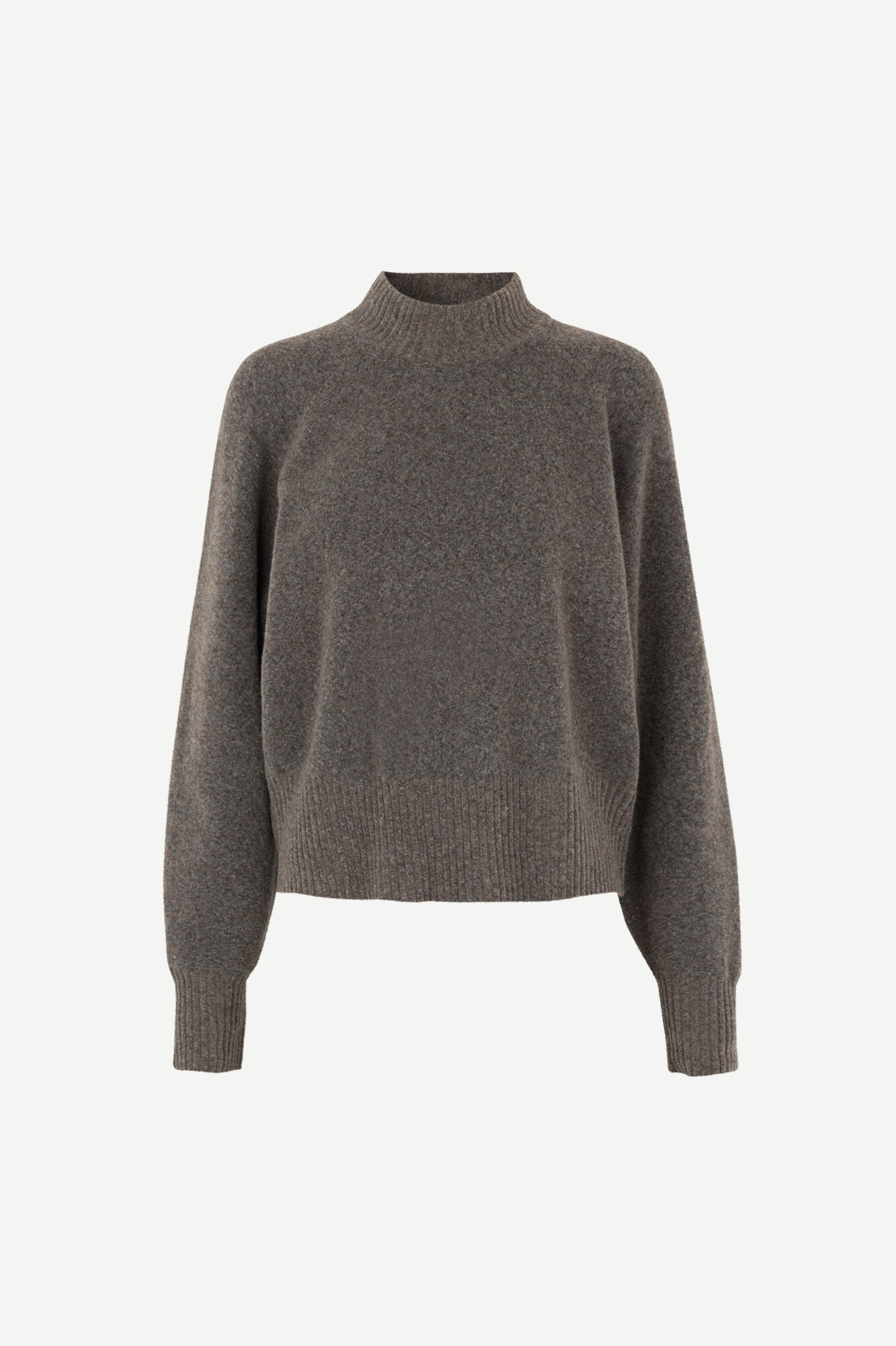 Frances crew neck 12756, WARM GREY MEL.