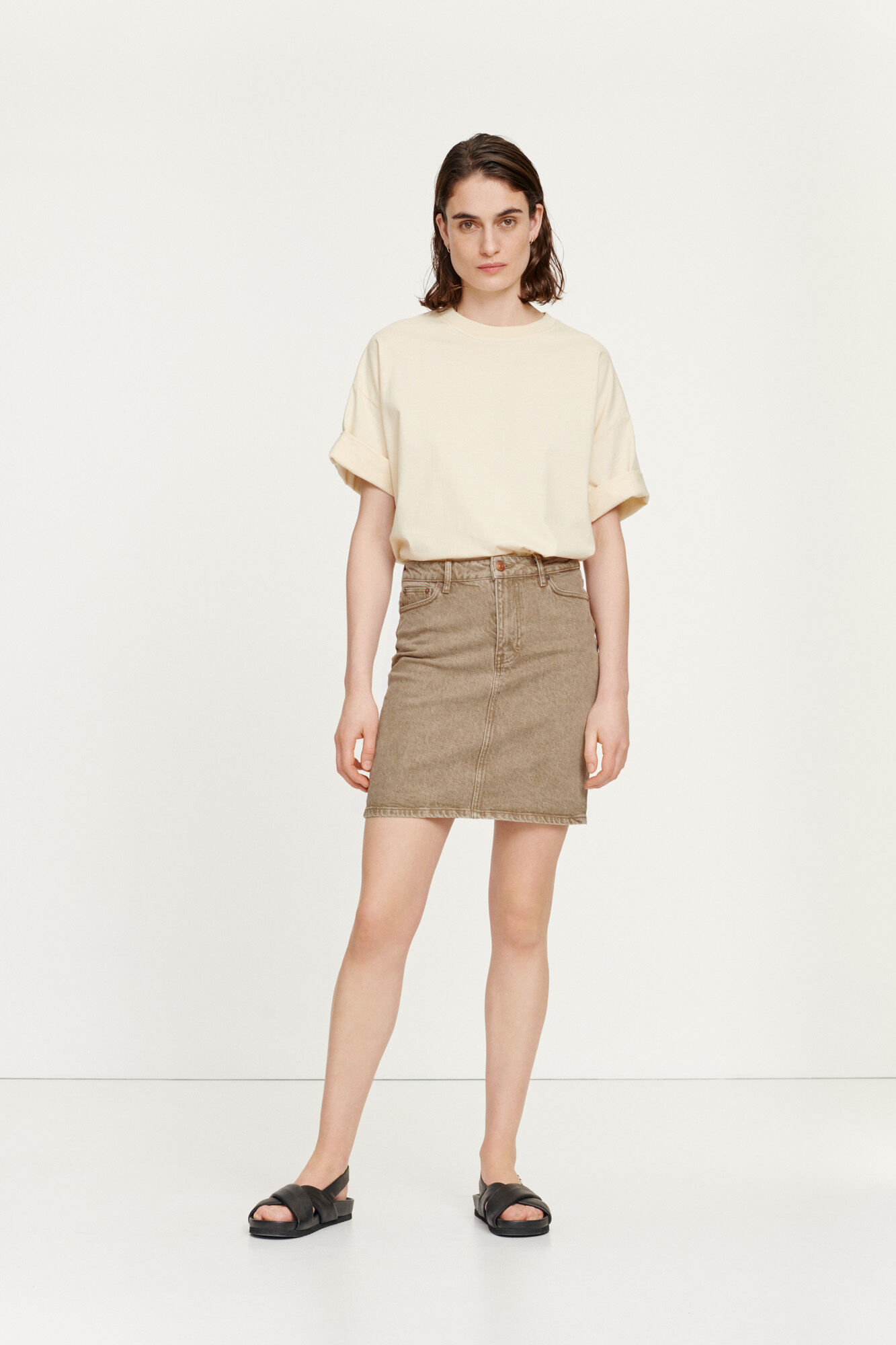 Pamela skirt 12717, WOOD