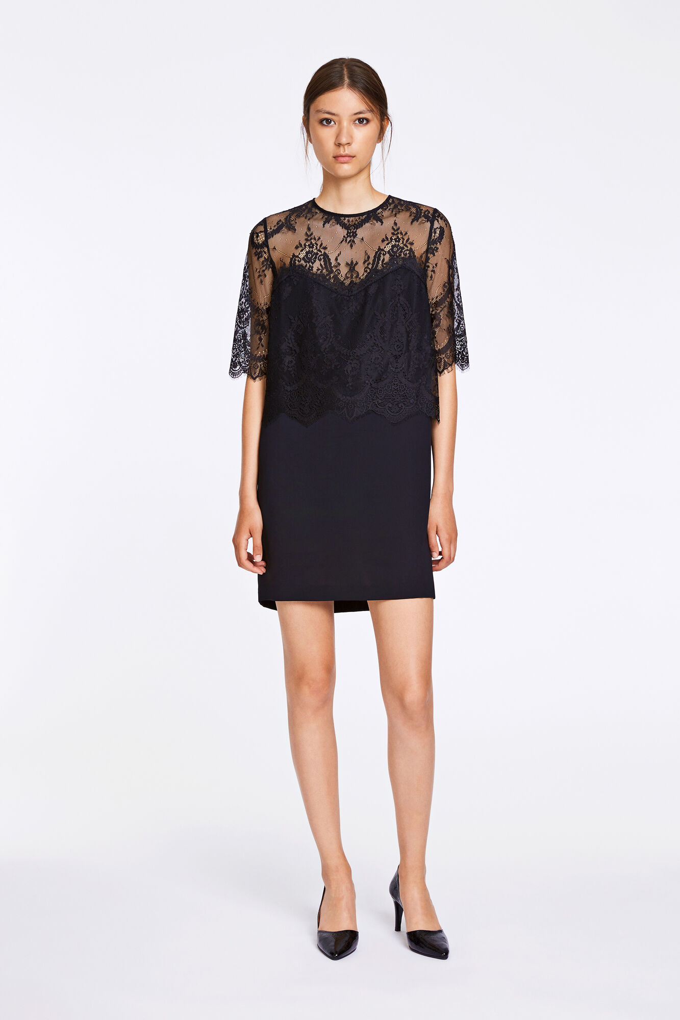 Daphne ss dress 8330, BLACK