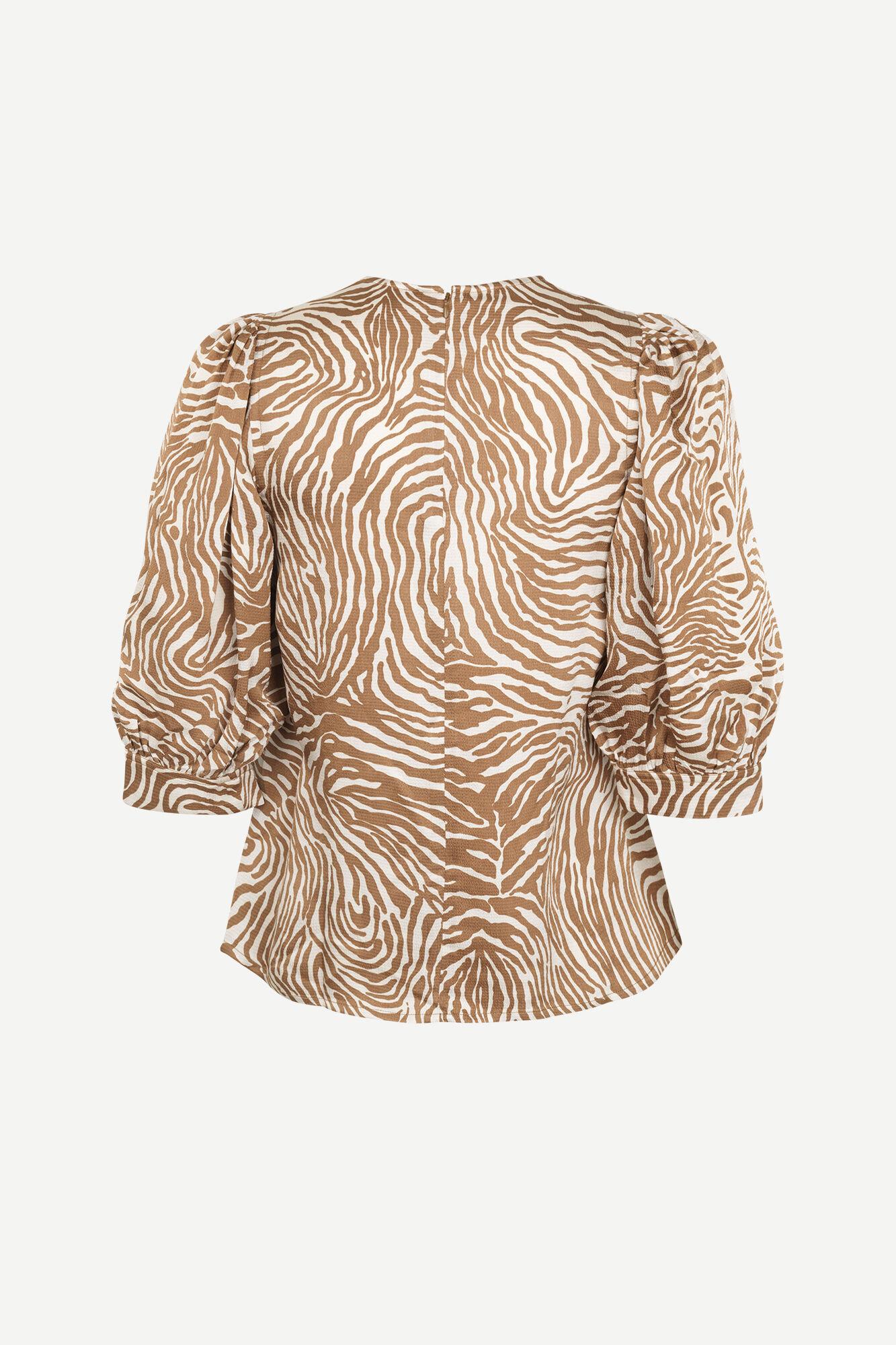Celestina blouse aop 12887, MOUNTAIN ZEBRA