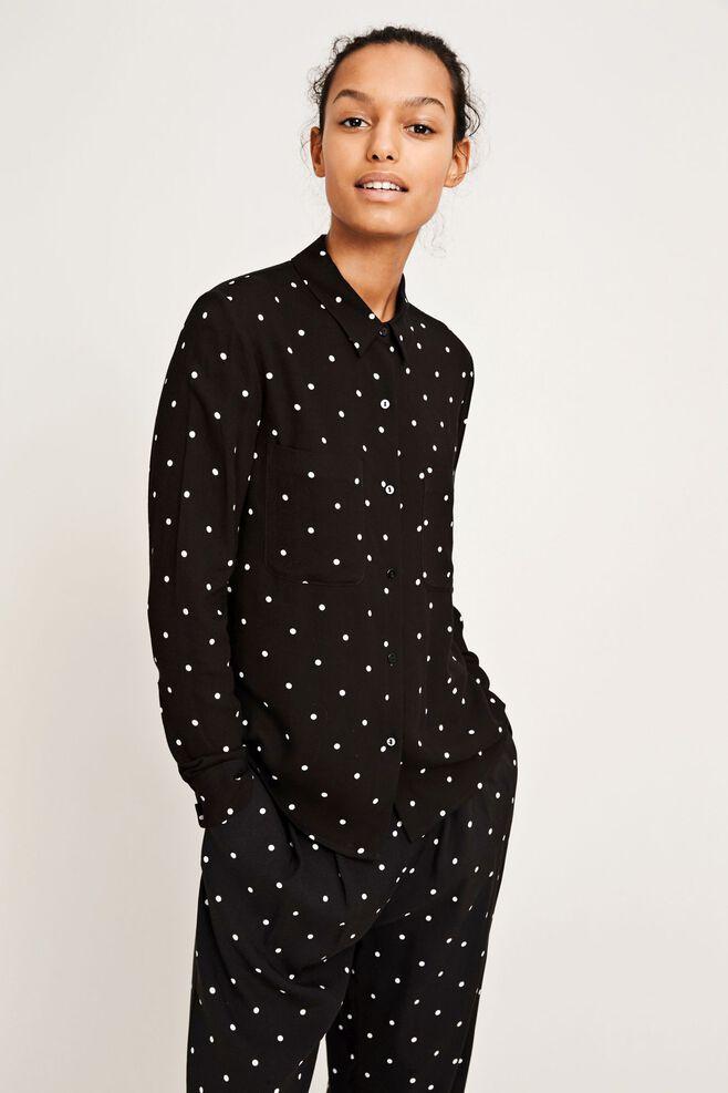 Milly shirt aop 7201, POINT NOIR