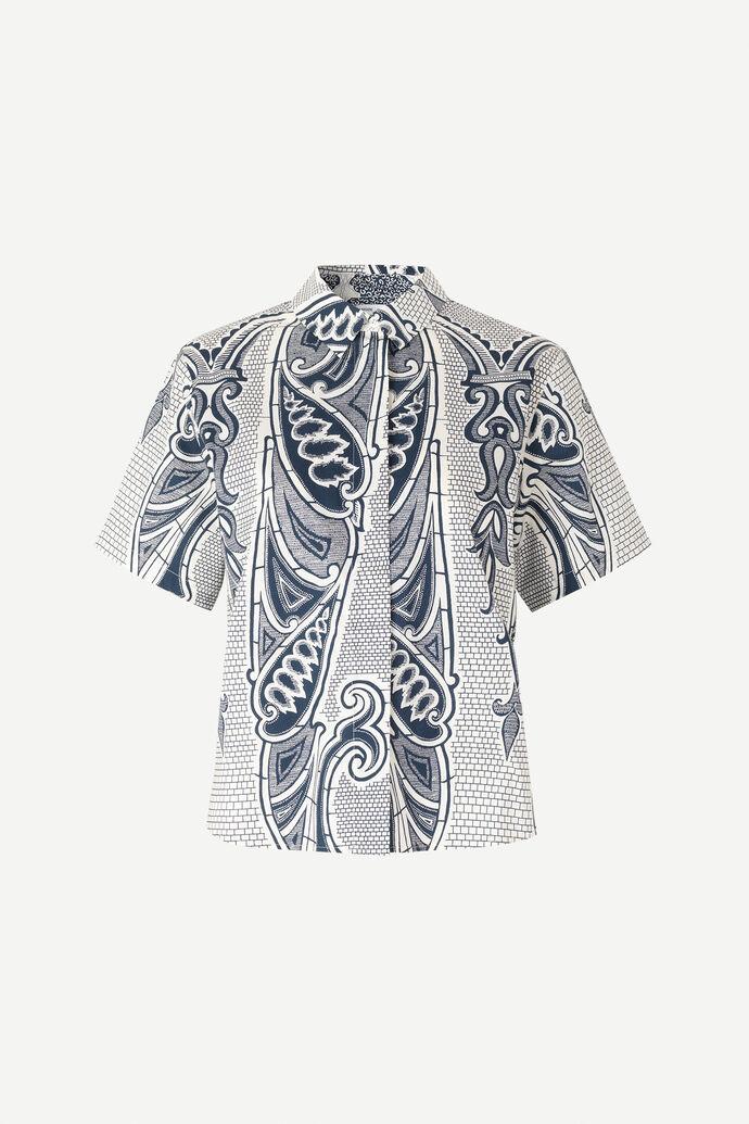 Mina shirt ss aop 10451, PORCELAIN
