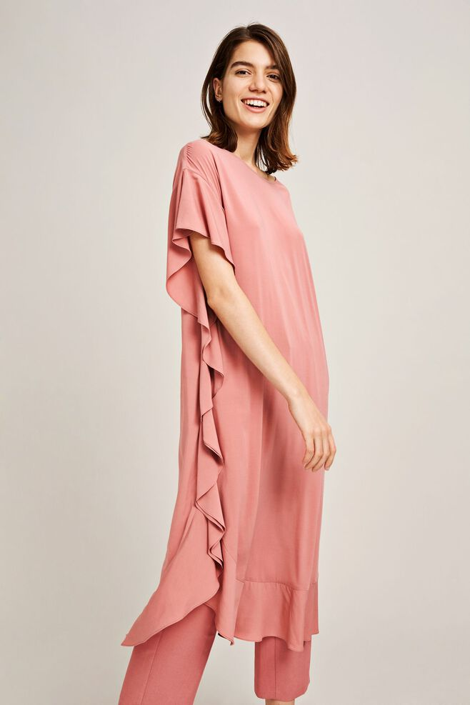 Yoruba dress 9942, DUSTY ROSE
