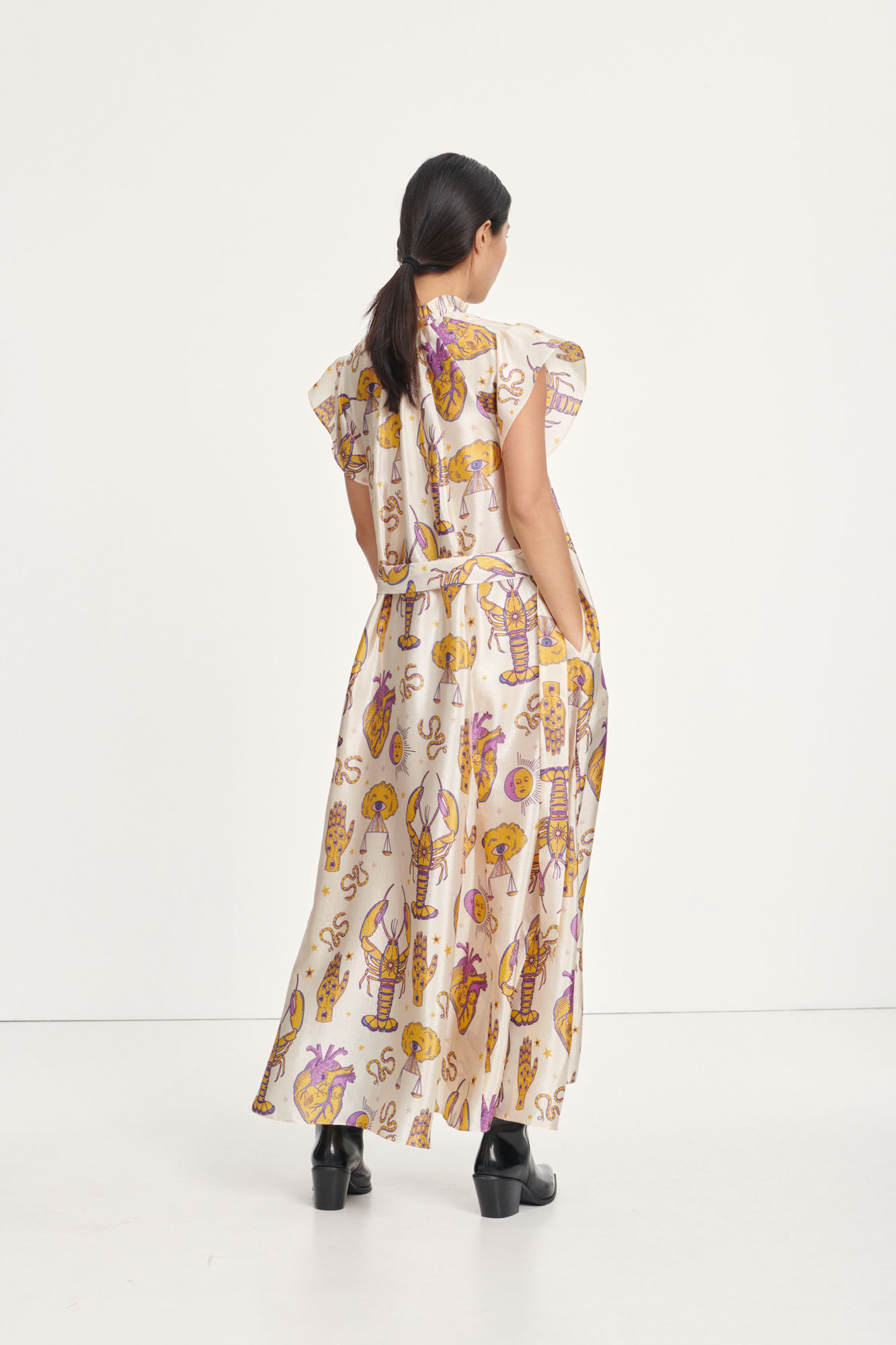 Karookh long dress aop 11244, TAROT TAPESTRY