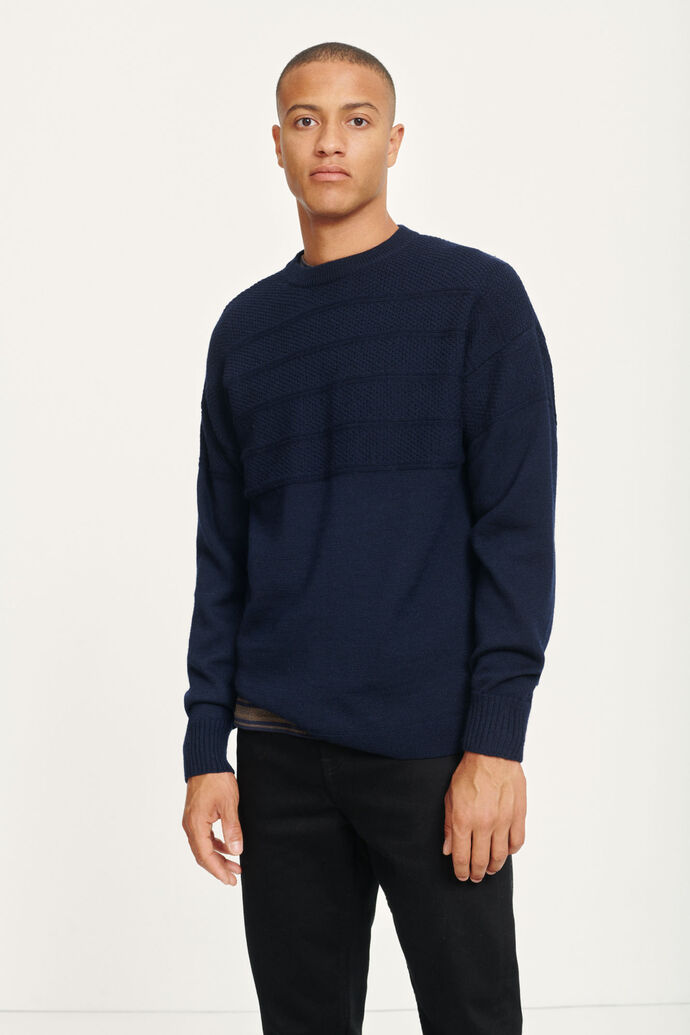 Parker crew neck 10566, SKY CAPTAIN