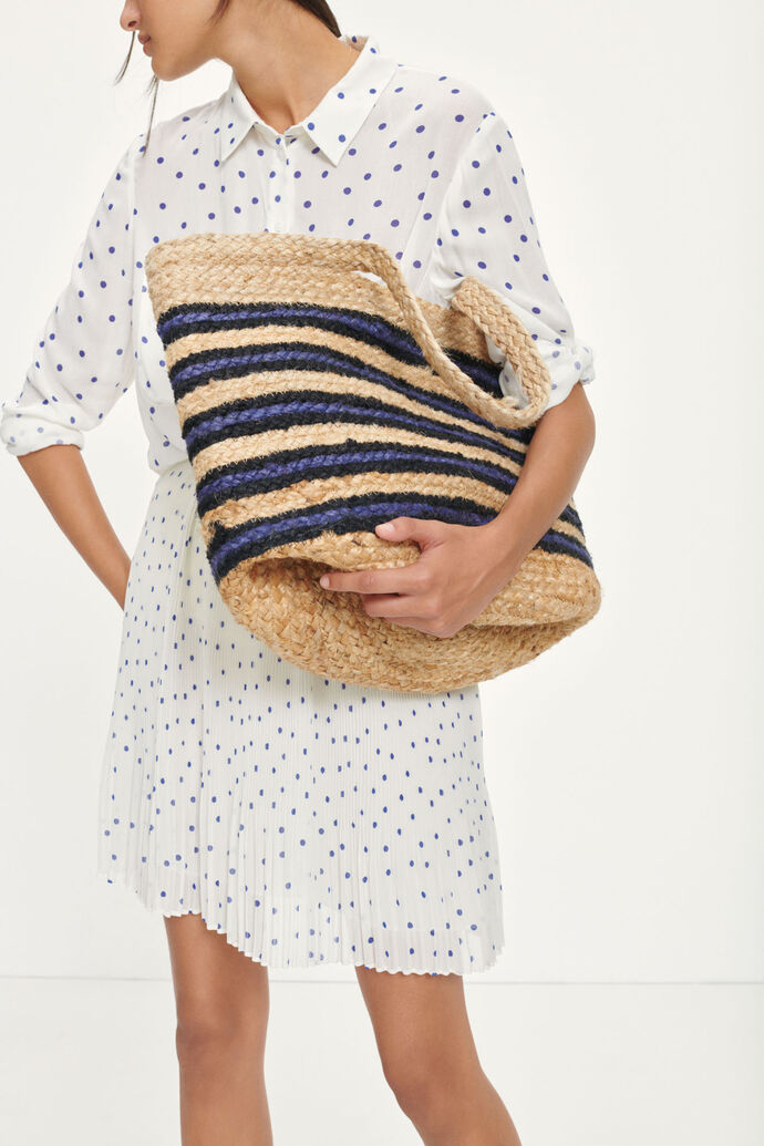 Beach bag L 11507, NATURE BLUE