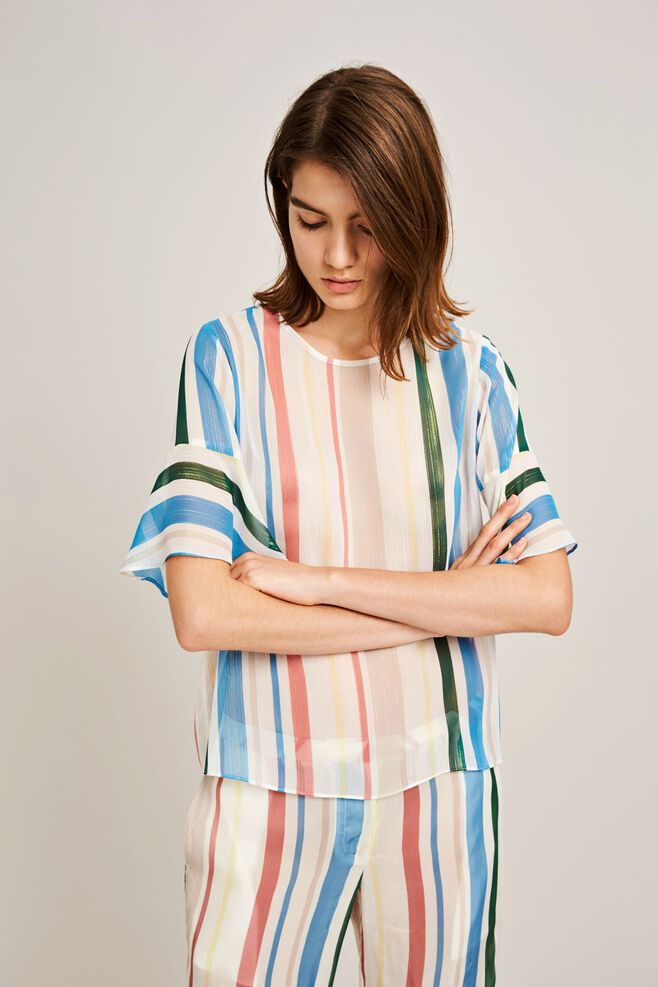 Serena ss aop 9937, COTTAGE STRIPE